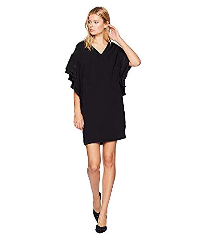 [LAUREN Ralph Lauren(ローレンラルフローレン)] レディースウェア?ジャケット等 Flutter-Sleeve Shift Dress Polo Black US 6 (M) [並行輸入品]