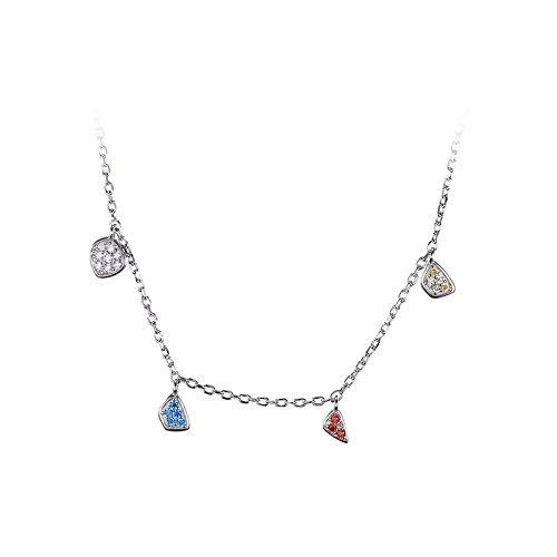 JewelryPalace Collar Zirconia cúbicos de las mujeres colgantes sólidos Plata de ley 925 cadena de caja 45cm