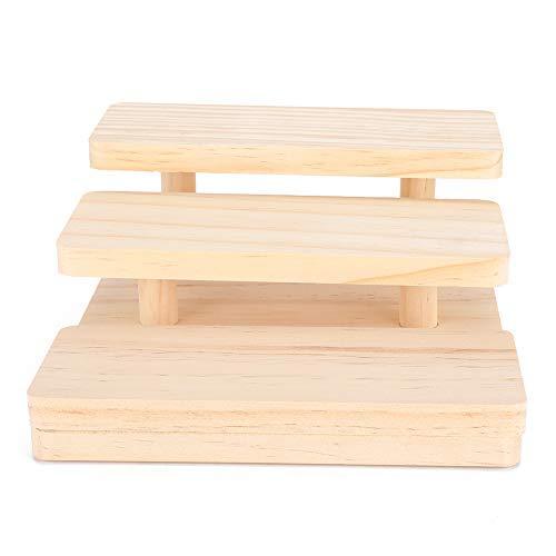 3 lagen houten zonnebrilstandaard, glazen sieraden display rack zonnebril organisator houder displaystandaard voor thuisbrillenwinkel, sieradenopslag brillenkoker