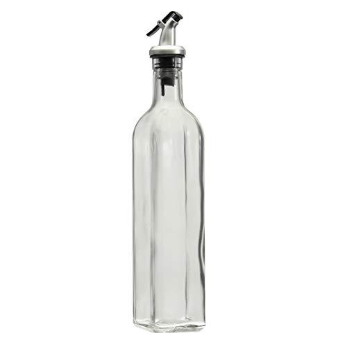 ILS – 500 ml 18 oz de vidrio oliva aceite vinagre dispensador dosificador embotellado de cocina Herramientas
