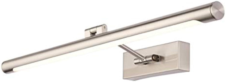 &LED Spiegelfrontlampe Led-spiegel Scheinwerfer Modernen Minimalistischen Streifen Bad Wandleuchte Anti-fog Sand Nickel Bad Lampe Lampe vor dem Spiegel (ausgabe   Weies Licht-52cm)