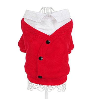 Feidaeu Pet Clothes Gentle Soft Komfortable Casual Klassisches Hundehemd mit Knopfdekoration für alle Jahreszeiten