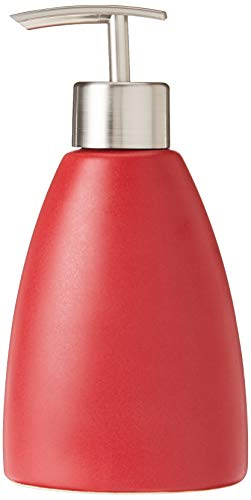 kieragrace Cleo Ceramic Lotion Dispenser, Matte Red