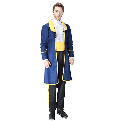 No/Brand Beauty Beast Cosplay Costume Set Couple Costumes Princess Belle Dress Prince Beast Halloween Outfit Men Women