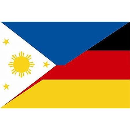 U24 Aufkleber Philippinen Deutschland Flagge Fahne 15 X 10 Cm Autoaufkleber Sticker Auto