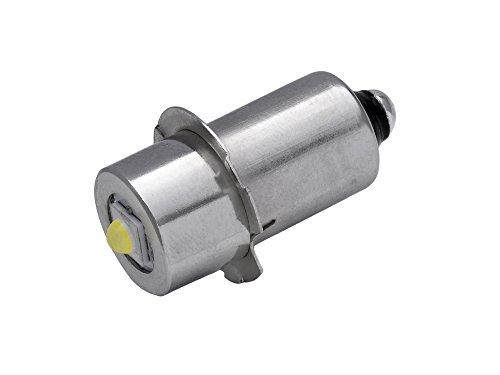 TorchLED13 - Energiesparende 1 Watt LED-Ersatzbirne für Taschenlampen   Sockel P13.5s   1–9 Volt