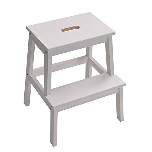 Stair stoel Huishoudelijke stapkrukken Hockers Shoe bankjes Two-step ladders Step ontlasting Twee kleuren Solid houtproductie stair kruk (Color : B)