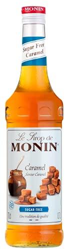 MONIN Sirop de Caramel Sans Sucre pour Café, Cappuccino, Latte et Chocolat Chaud - Arômes Naturels - 70cl
