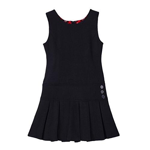 NEW Kids Girls Plain Sleeveless Fishtail Chiffon Lace Dress Top Age 4-13 Years