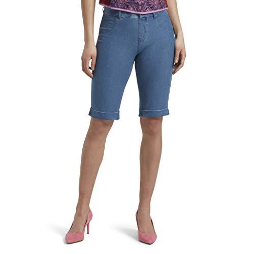 HUE Women's Essential Denim Boyfriend Shorts, Medium Wsh,
