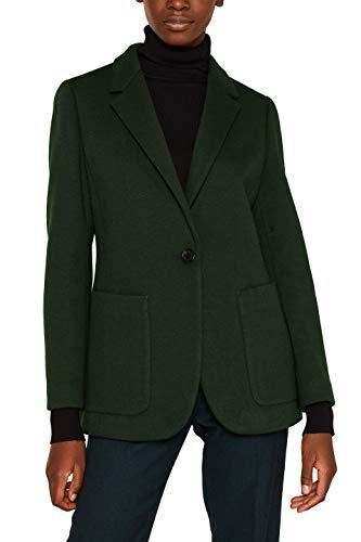 ESPRIT Collection Damen 109Eo1G010 Anzugjacke, Grün (Bottle Green 385), (Herstellergröße: 40)