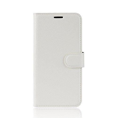 DAMAIJIA für Alcatel 1 Hüllen Klapphülle PU Leder Silikon Wallet Schutzhülle Schutz Mobiltelefon Flip Back Cover für Alcatel1 Tasche 5033D 5033 D 5033Y 5033X Handy Zubehör (White)
