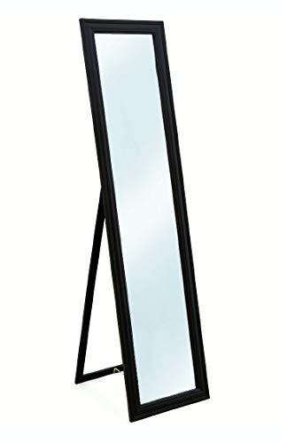 Galileo Casa specchiera da Terra 40x160 Nero, Legno, Misure Specchio: l. 30 x h. 150 cm