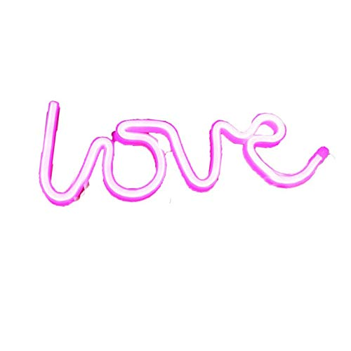 CloverGorge Neon Heart Sign The Arrow Of Love Led Neon Lights Up Sign Decorative, Pink