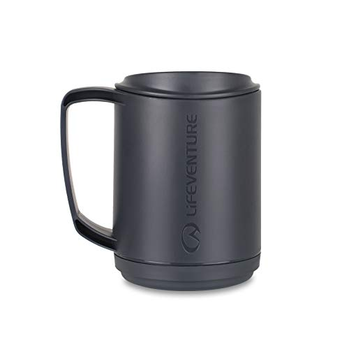 Lifeventure 74041 Ellipse Insulated Mug (Graphite) Unisex-Adult, Grey
