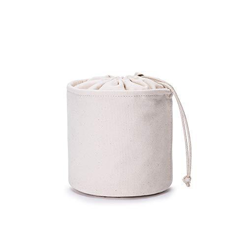 Großer Handtaschen-Organizer für Damen, Leinen, rund, Handtaschen-Organizer, Aufbewahrung, Handtaschen-Organizer, runde Kosmetiktasche, Eimer, Make-up-Tasche (Beige【klein】)