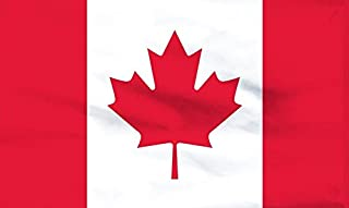 American Flag & Pole Co. - 3'X5' Nylon Canada Flag - Sewn Stripes & Maple Leaf