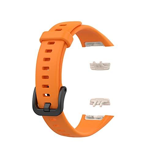 JSSEVN Correa de repuesto para Huawei Band 6/Honor 6, resistente al agua, correa de repuesto deportiva, compatible con silicona, ajustable (12 colores diferentes)
