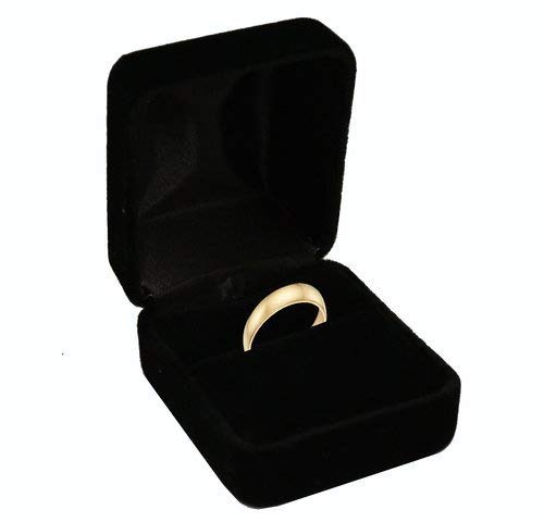 Geff House Velvet Ring Box (Black)