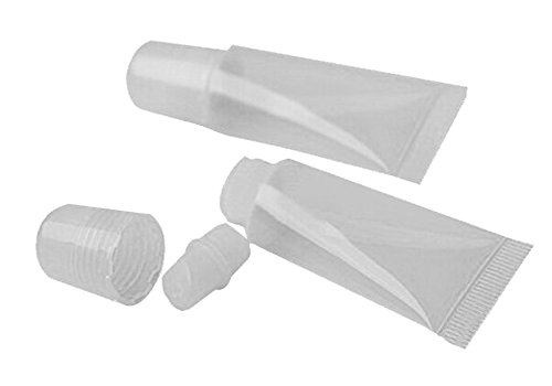 TININNA 8 ML Leere Lippenbalsam Lippenpflegestift Rohre Behälter mit Kappe 50 STK EINWEG Verpackung