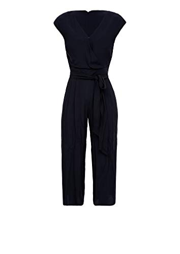 s.Oliver RED Label Damen Culotte-Jumpsuit aus Crêpe Navy 32