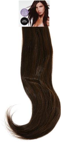 Love Hair Extensions Thermofiber seidig, glatt, 10-teiliges, komplettes Headset Clip-In-Extensions Farbe 2/6 - Dunkelbraun/Dunkles Aschbraun - 46cm, 1er Pack (1 x 1 Stück)