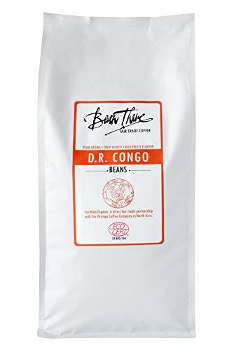 Bean There Fair Trade Coffee, Whole Coffee Beans, Congo, 32 Ounce