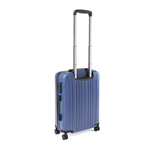 Eglemtek Valise cabine 55cm - Trolley à coque dure - ABS ultra Léger - 4 roues couleur bleue