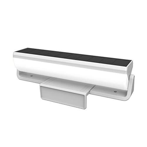 ムサシ RITEX 明かりセンサー付 ソーラー外壁・フェンスライト S-C1000L グレー