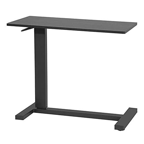 AYNEFY Table d'ordinateur, Table élévatrice Base en Forme de C Bureau de Chevet sur lit Tuyau d'acier Multifonctionnel et Panneaux de Particules pour l'écriture pour Le Dessin pour la Lecture