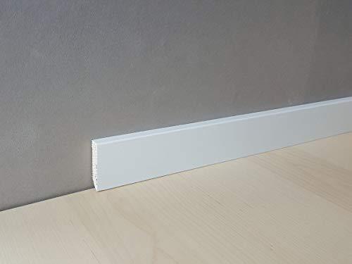 "Fuß- u. Sockelleiste\""Zwickau\"" 40 x 10 mm Massivholz | 321.1040.31 -Kiefer deckend weiß lackiert"