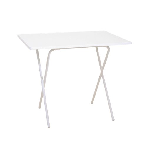 Greemotion Scherentisch in weiß, ca. 60 x 63 x 82 cm, Balkontisch klappbar, Beistelltisch mit Holz-Kunststoff Sevelit Tischplatte, Kleiner Tisch für Camping, Multifunktionstisch witterungsbeständig