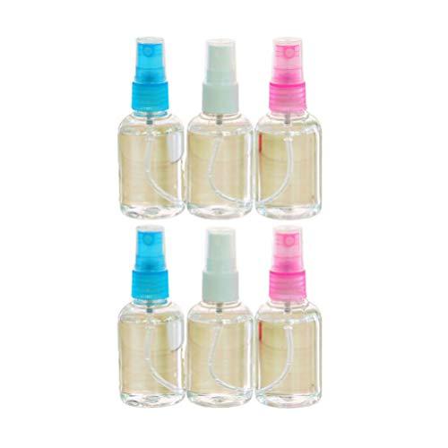 Beaupretty 6 Pcs Mini Vaporisateur Bouteilles Atomiseur Pompes Parfum Liquide Distributeur pour Huiles Essentielles Voyage Parfum Couleur Aléatoire 30 Ml