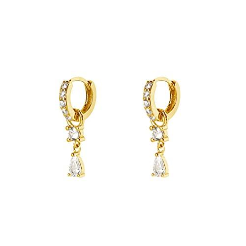 SINGULARU ® - Pendientes Bari Oro - Joyas mujer