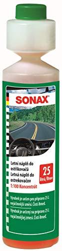 SONAX 03711410-544 Limpiacristales 1:100 concentrado (250 ml), para el sistema de limpiaparabrisas en verano