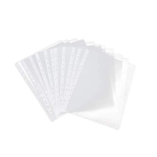 GGOOD Transparent Matt Dokumententasche 11-Loch Verdickte Mappe A4 Kunststoff-Ordner Tragbare Notebook Binder Wasserdichtes PVC-Beutel Dokumentenablage Beutel Mit 100 Seiten 5c Typ 1set