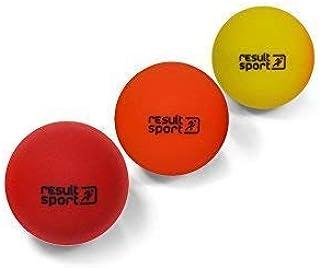 ResultSport Trigger Point Massage Ball Set Pack of 3 (Soft/Medium/Hard) - 6cm - Stress Reflexology, Myofasical Ball, Exercise Ball, Lacrosse Ball