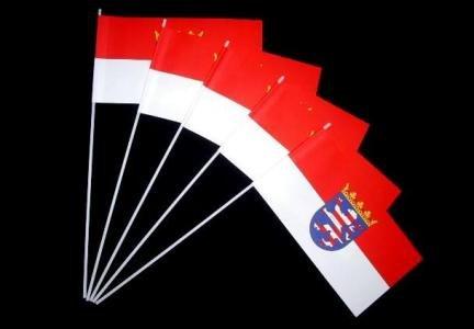 Papierfähnchen: Hessen mit Wappen 50er Packung