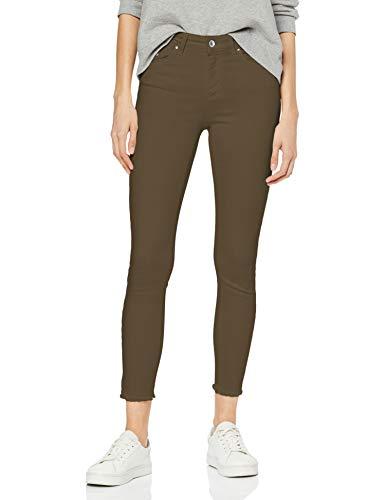 ONLY NOS Damen onlBLUSH MID SK ANK RAW COLOUR JEA NOOS Skinny Jeans Grün (Kalamata), 38/L30 (Herstellergröße: M)