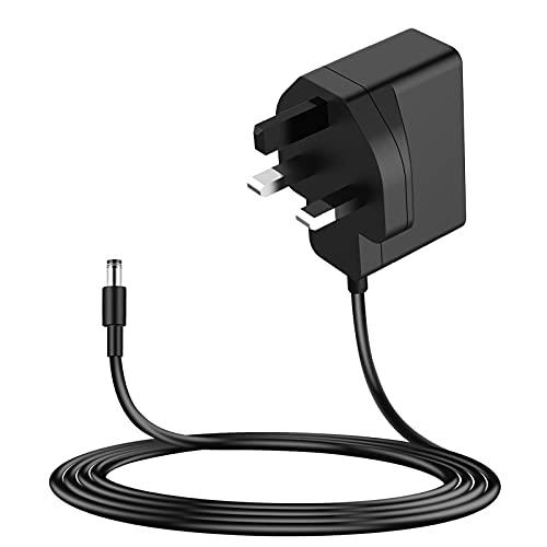 MEROM Adaptador de corriente de 9 V 1 A compatible con el teclado Casio Piano CTK/CT/LK/MT/WK/PRO/MA/CPS/LD serie Cable de alimentación del teclado