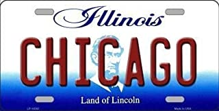 Jacksoney Tin Sign New Aluminum Chicago Illinois Metal Novelty License Plate Metal Sign 11.8 x 7.8 Inch