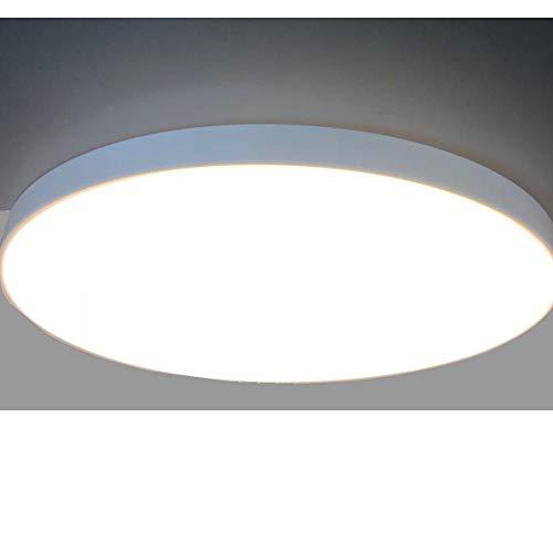 Plafón LED, (Ø60cm 60W 3000K), lampara de techo, redondo, diseño moderno, plano, elegante y simple, lacado blanco. Luz de Techo grande para Comedor, dormitorio, cocina etc.
