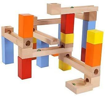 WLD Marble Run Rennen Building Blocks, Baumaschinen Diy, 33 Stk Alle Gängigen Marken Bulk-Bricks Set, Simulation Handgefertigte Alle Geschenk