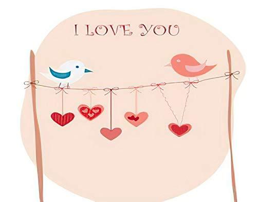 Y·JIANG Pájaros en un alambre pintura por números, pájaros de amor DIY lienzo acrílico pintura al óleo por números para adultos niños decoración de pared del hogar, 40,6 x 40,6 cm