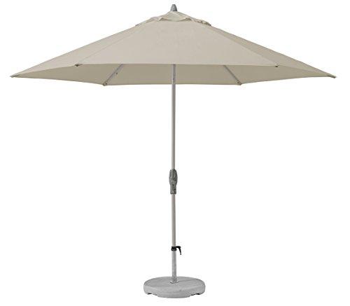 Suncomfort by Glatz Shell-Turn, off-grey, 330 cm rund, Gestell Aluminium, Bespannung Polyester, 7.1 kg