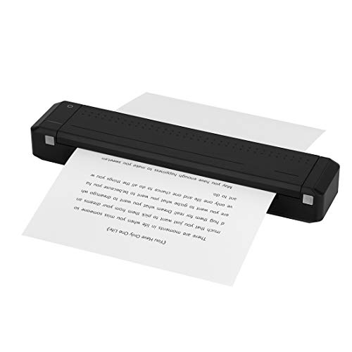 Wireless A4 Paper Printer, HPRT MT800 Wireless Bluetooth Portable Mini Printer Support Ordinary A4 Paper, Direct Thermal Transfer Printer with Auto Paper Feed for Android & iOS Mobile