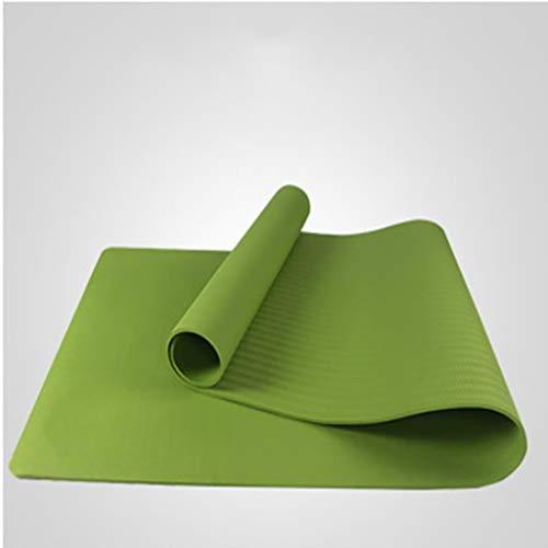 HE-XSHDTT Colchoneta de Yoga de Espuma de Alta Densidad de Primera Calidad con colchoneta de Ejercicio Interior al Aire Libre Antideslizante para Gimnasio en casa para Mujeres y Hombres,Verde