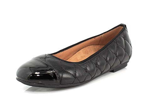 Vionic Women's Spark Desiree Ballet Flat - Ladies Flats with Concealed Orthotic Arch Support Black 7 M US