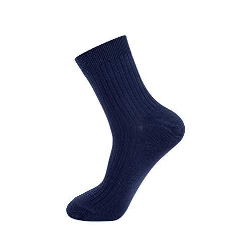 Halva strumpor Kort andningsbar bomull,10st, snygg, tjock och varm, bekväm och mjuk, svettabsorberande och andningsbar, sportaffär-Navy,Sportsockor kvinnor