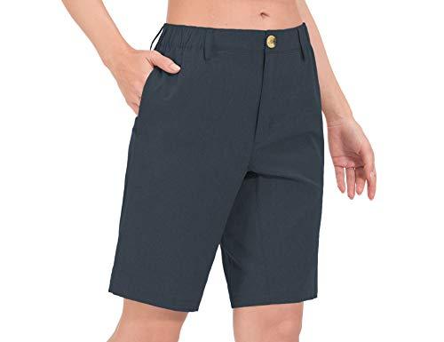 Little Donkey Andy Bermudas ligeras de secado rápido UPF 50 para mujer, pantalones cortos elásticos para golf, senderismo, viajes - negro - XS